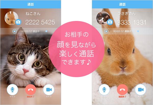 iOS版「SkyPhone」にビデオ通話機能が追加(同社ブログより引用)