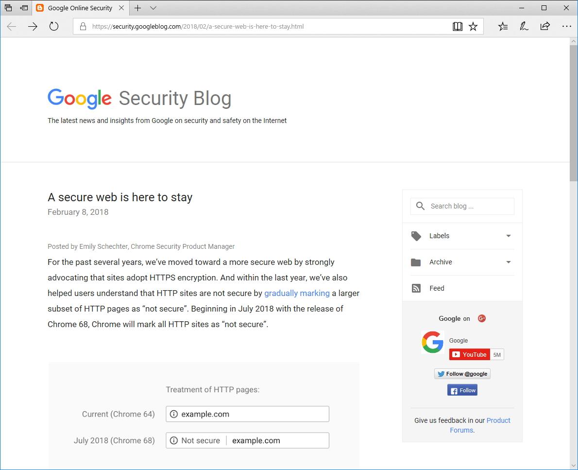 """公式ブログ""""Google Online Security Blog"""""""