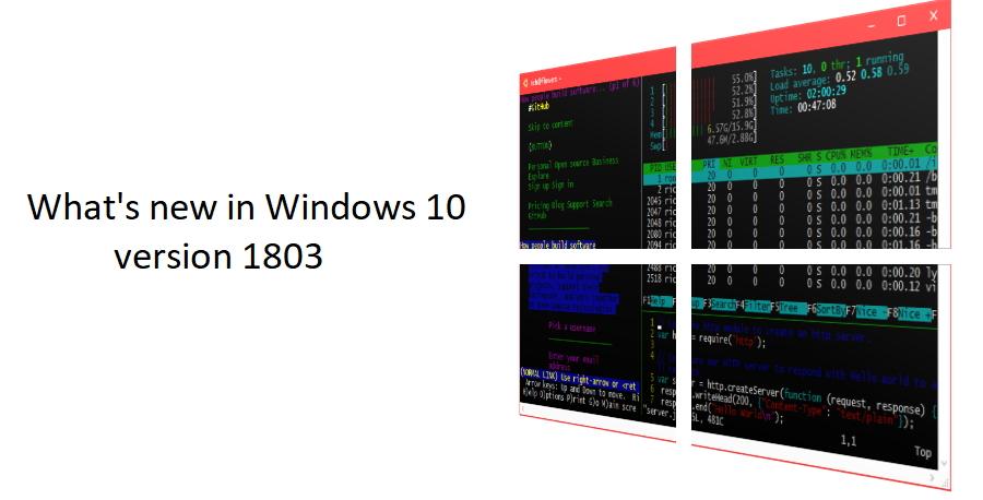 """次期機能アップデート""""バージョン 1803""""(RS4)におけるコマンドライン開発者向けの新機能"""