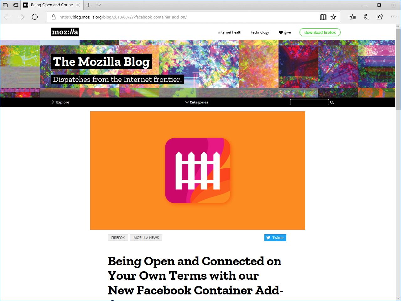 Mozillaの公式ブログ