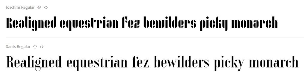 バウハウス・デッサウのデザイナーの名を冠した「Joschmi」と「Xants」