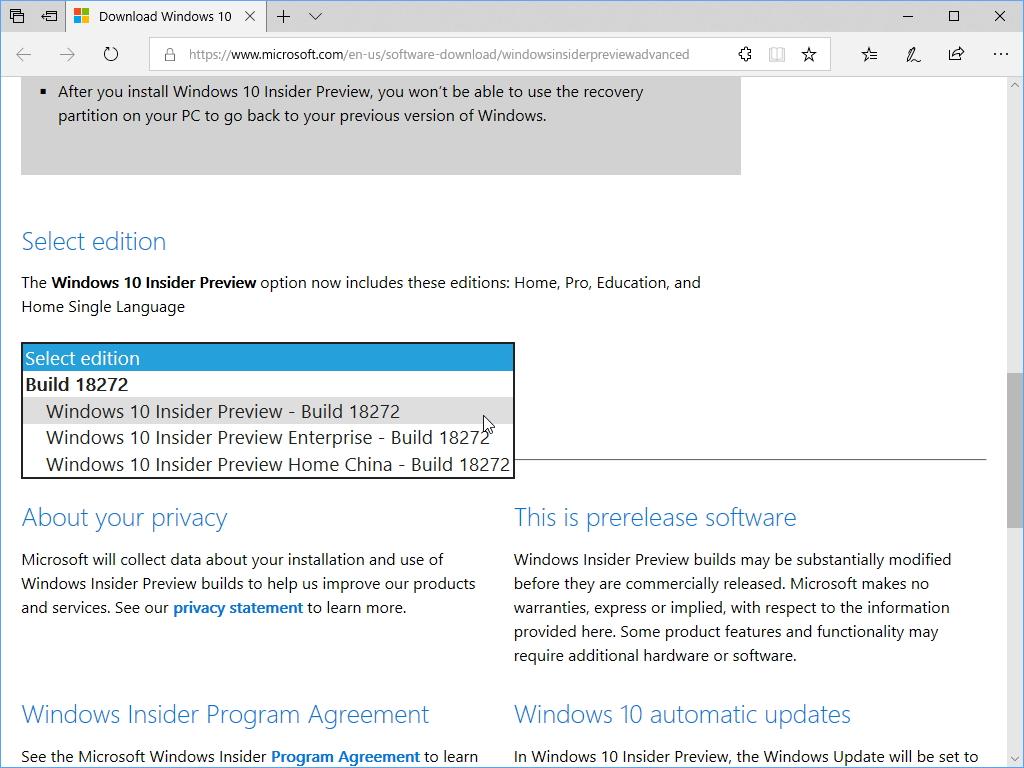 """ISOイメージファイルも提供。ダウンロードするには、""""Microsoft アカウント""""でのログインが必要"""