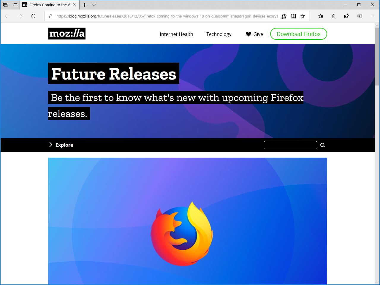 Mozillaによるリリース