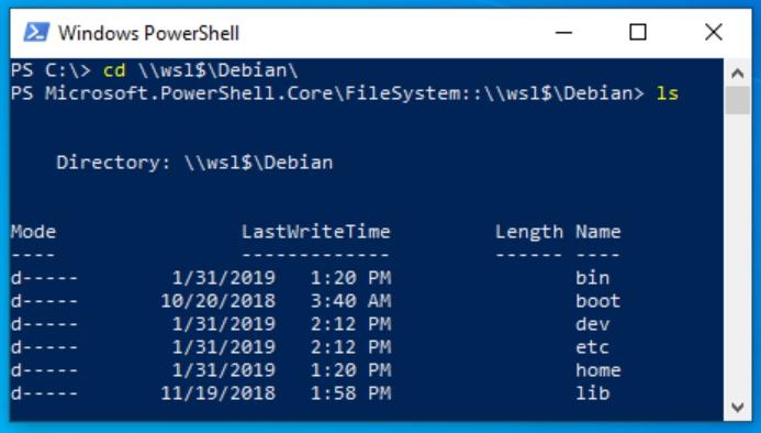 """""""¥¥wsl$¥Debian¥""""といったUNCパスでWSL/Linux環境のファイルシステムへアクセス"""