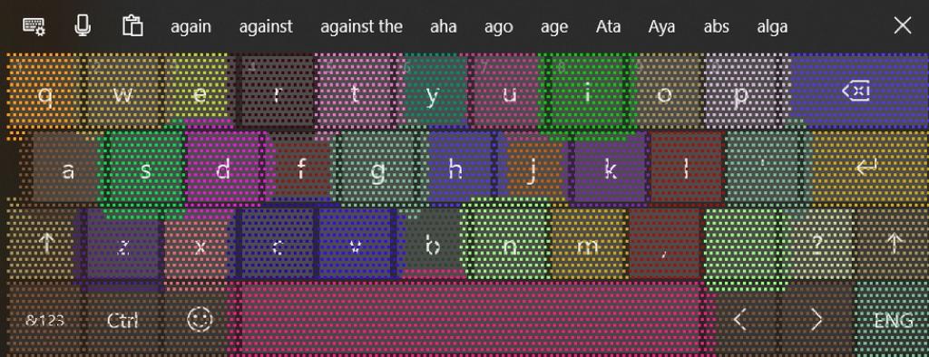 ユーザーの入力スタイルを学習して、次に入力するキーを予測し、各キーの当たり判定を動的に調整