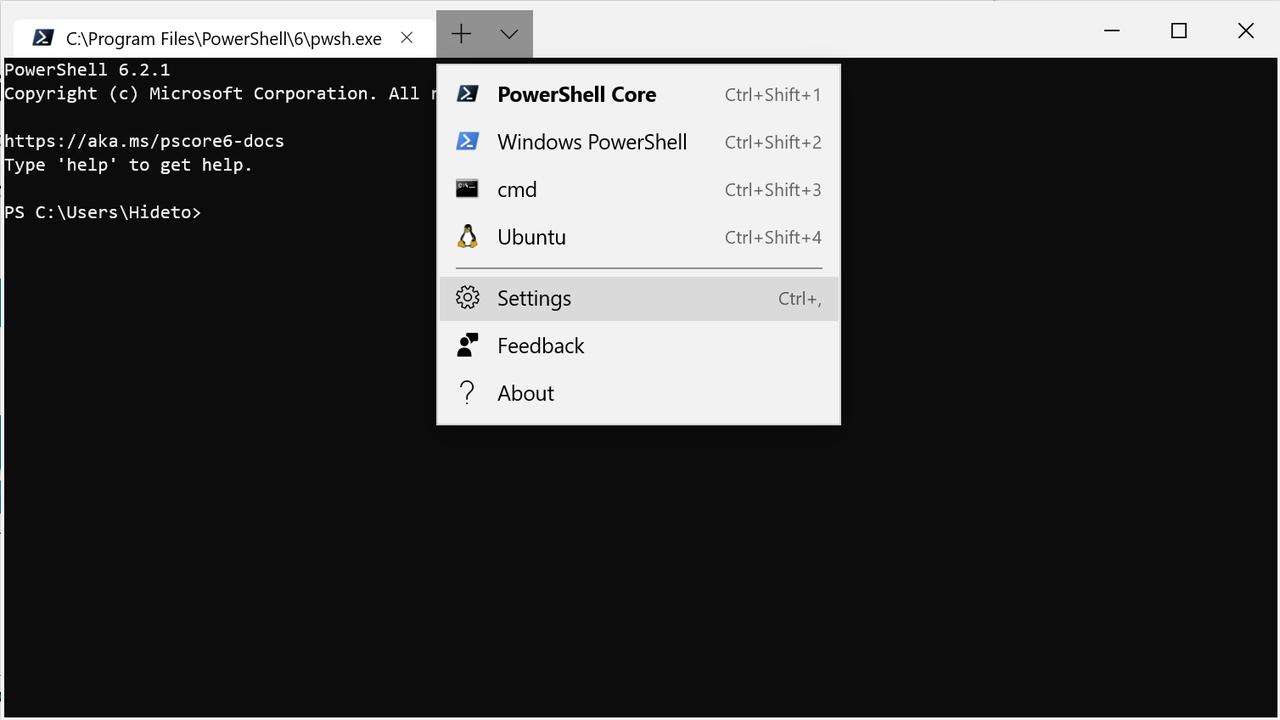 「Windows Terminal」v0.3.2142.0