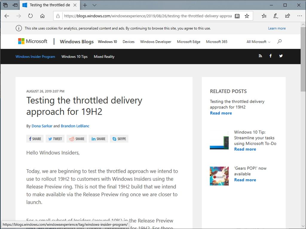 """公式ブログ""""Windows Experience Blog"""""""