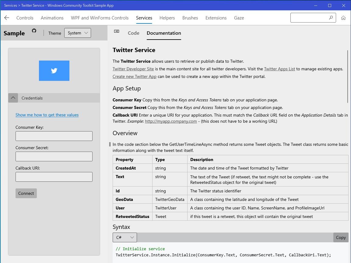 「Windows Community Toolkit」に含まれる要素をチェックできるサンプルアプリ「Windows Community Toolkit Sample App」