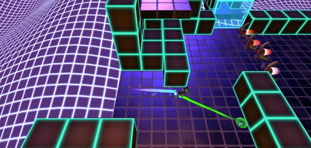 未来の忍者を操り、3Dの迷宮を探索するゲーム「Retrochase」