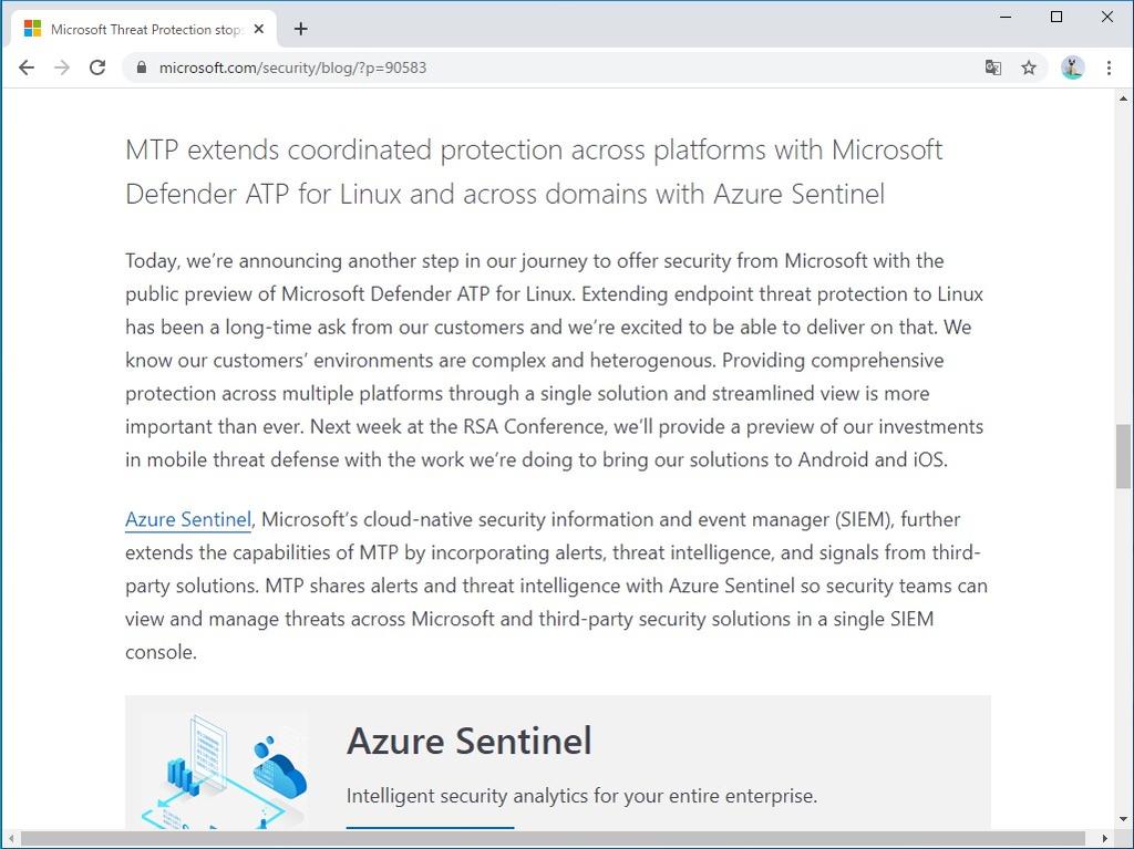 「Microsoft Defender ATP for Linux」の公開プレビューが開始