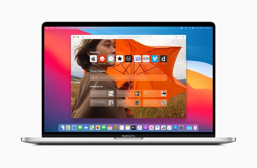 新しい「Safari」を搭載する「macOS Big Sur」