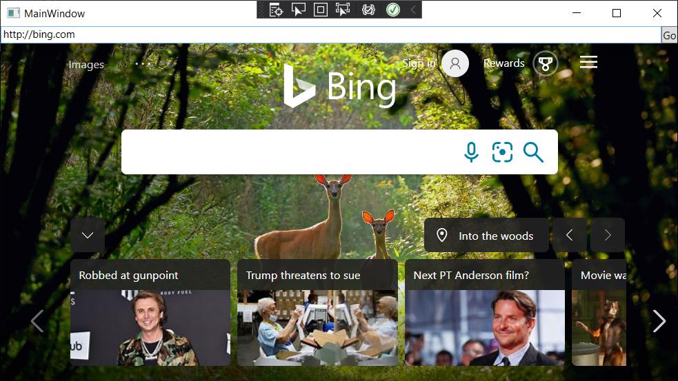 「Chromium」ベースの新しい「Microsoft Edge」をデスクトップアプリに組み込み、「Blink」「V8」エンジンでWebコンテンツ(HTML/CSS/JavaScript)をレンダリング