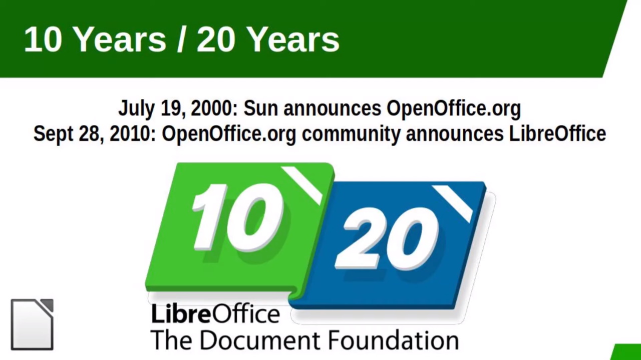 「LibreOffice」が誕生から10周年