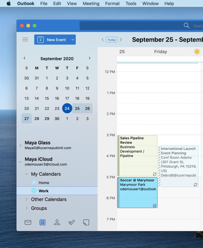 "Mac版「Outlook」で""iCloud""アカウントが利用可能に"