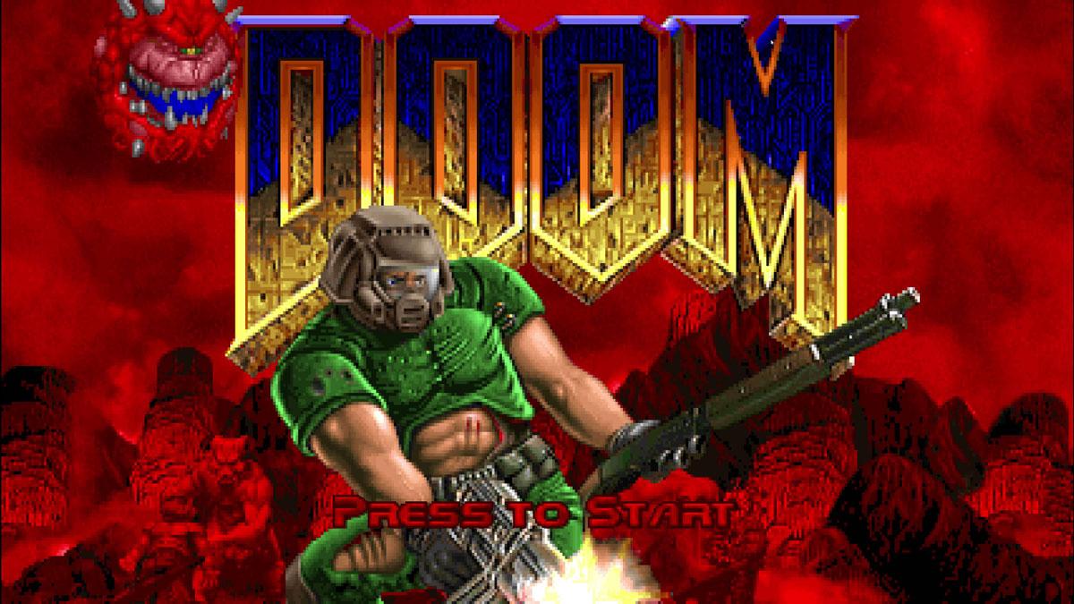 「DOOM(1993)」のタイトル画面