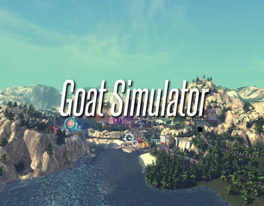 「Goat Simulator Windows 10」のタイトル画面