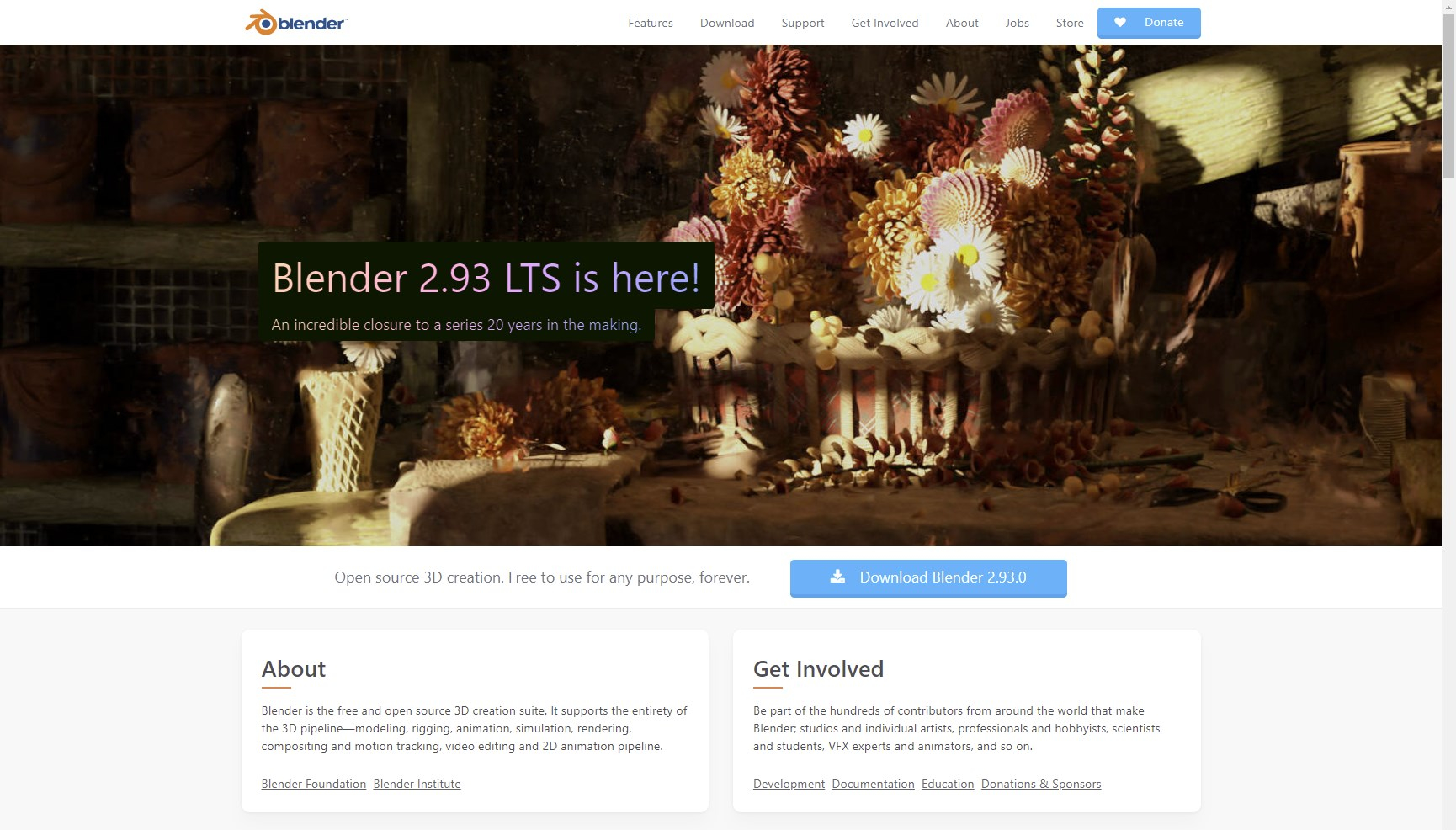 """「Blender」はBlender財団が開発するオープンソースの3Dコンテンツ制作ツールで、<a href=""""https://www.blender.org/"""" class=""""n"""" target=""""_blank"""">「Blender」公式サイト</a>や窓の杜から無料でダウンロードできる。"""
