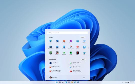 「Windows 11」の新しいタスクバーと[スタート]画面