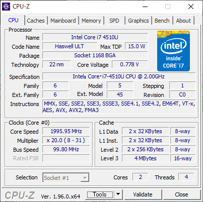 CPUは「Haswell」世代でTPM 2.0対応