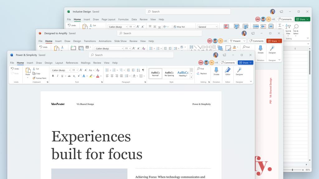 「Windows 11」に合わせてデザインを刷新した新しい「Microsoft Office」デスクトップアプリ