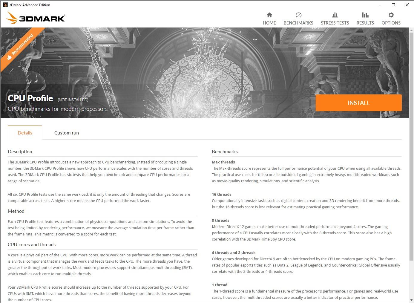 「3DMark」に新しい機能テスト「CPU Profile」が追加