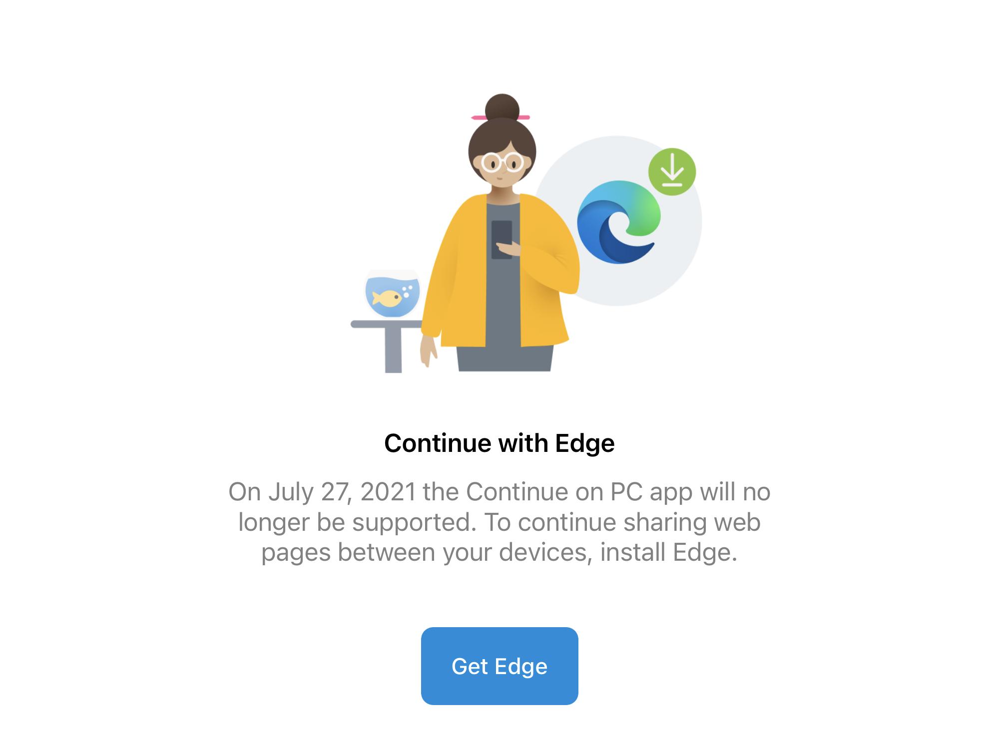 Microsoft、iOSアプリ「PC で続行」の提供を7月27日で終了