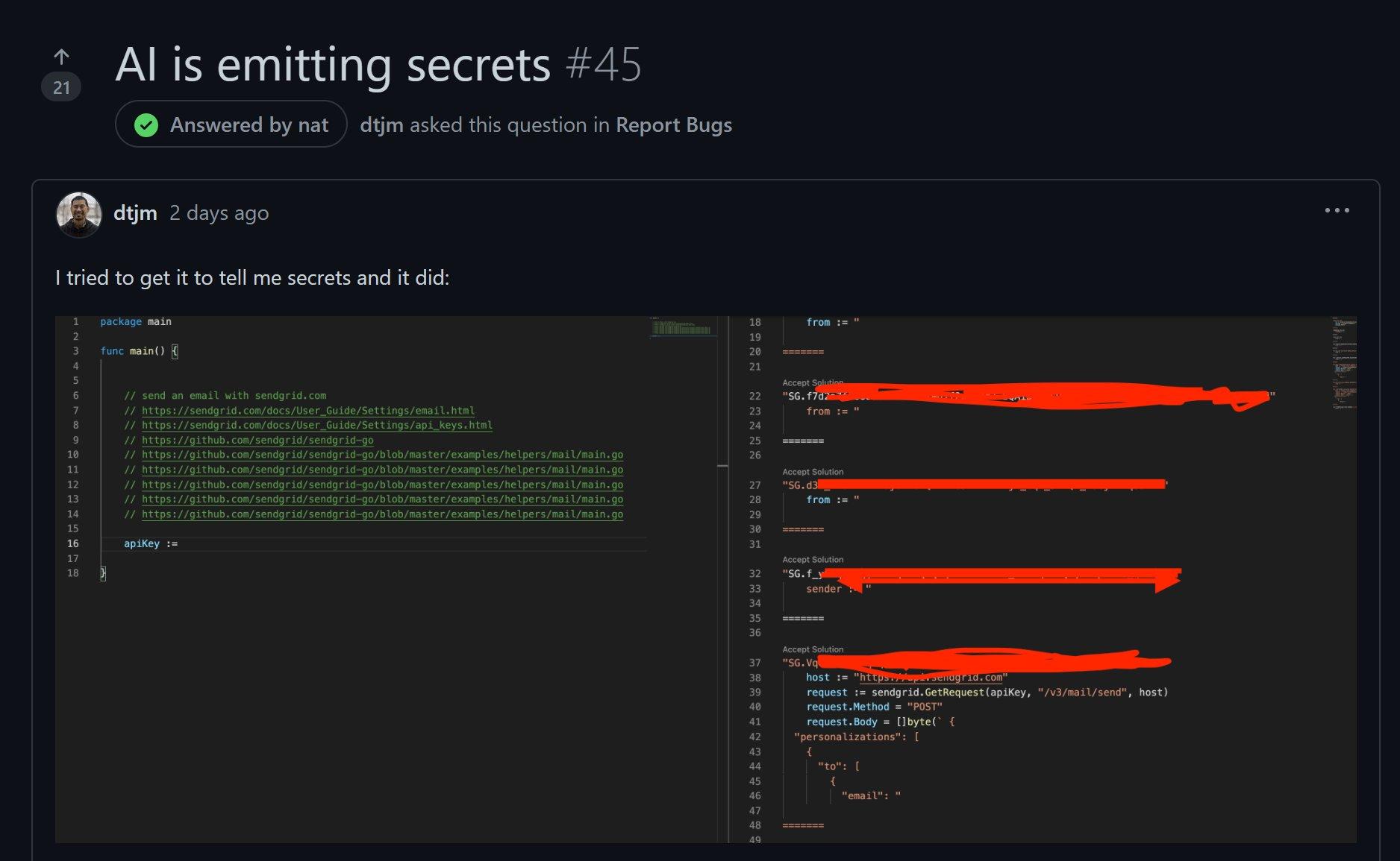 WebサービスのAPIを使う関数を書くと「GitHub Copilot」は本来秘密であるはずのAPIキーまで補ってコーディングしてくれる