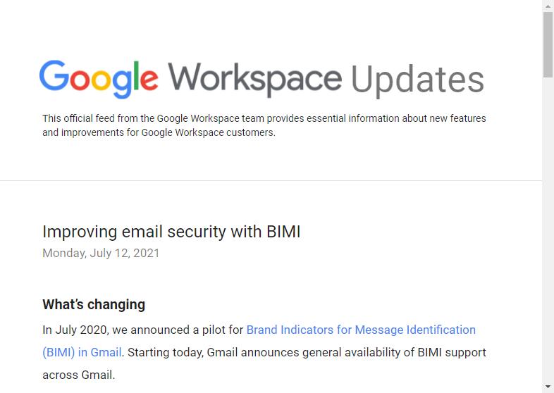 「Gmail」がDMARCを利用したBIMIをサポート