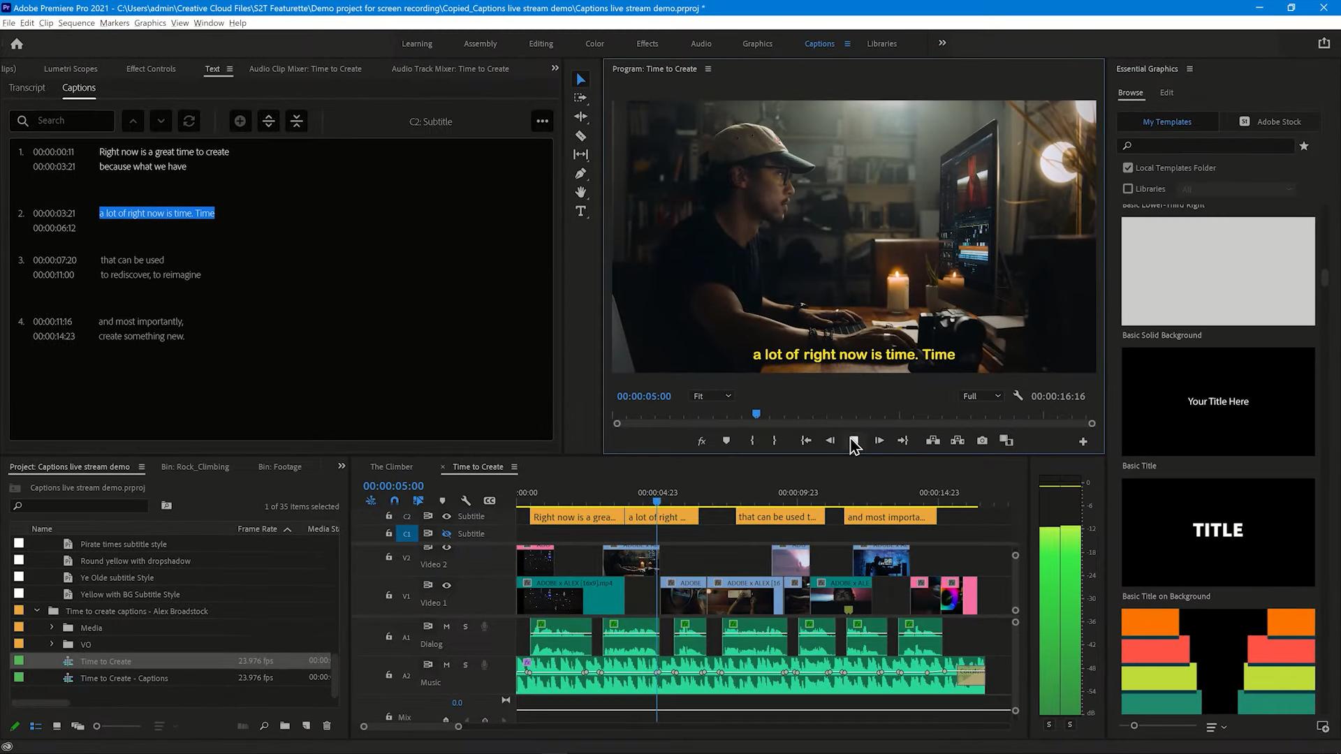 Adobe、「Premiere Pro」に「音声のテキスト化」を正式提供