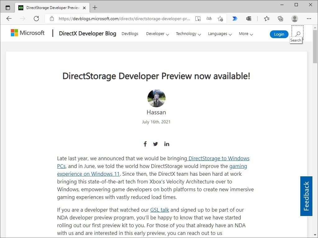 公式ブログ「DirectX Developer Blog」