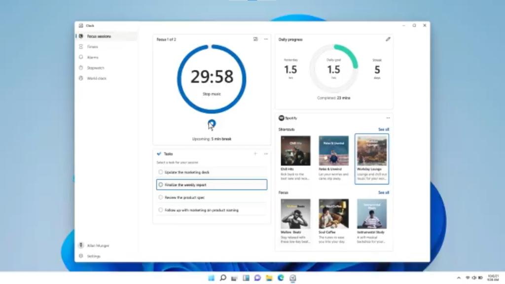 Windows 11ではOS標準の時計ツール「アラーム & クロック」のアップデートも計画か