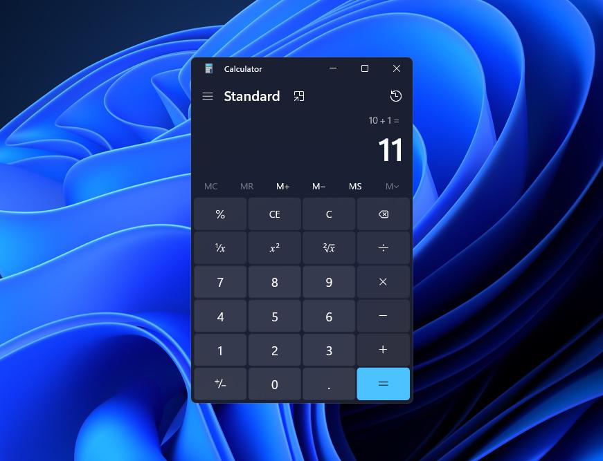 OS標準の「電卓」アプリも、Windows 11の新しいデザインに合わせて生まれ変わる