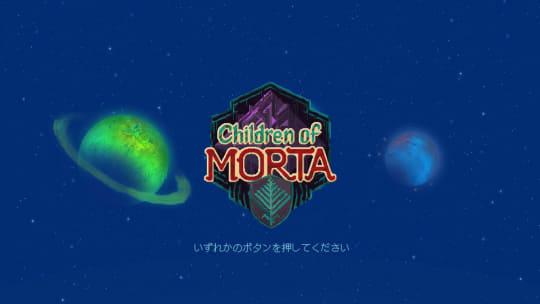 「Children of Morta」のタイトル画面
