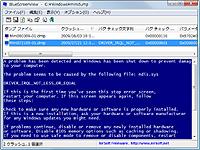 実際のブルースクリーン画面を模してエラー情報を表示可能
