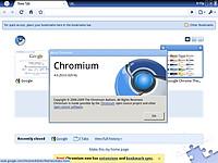 Webブラウザーは「Chromium」v4.0.253.0。拡張機能やブックマーク同期機能は利用できない模様