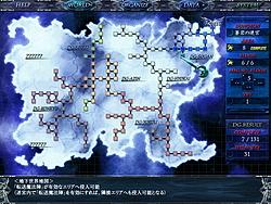 """広大なフィールドマップ。""""■""""マークの1つ1つがすべてダンジョンとなっている"""