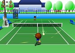 """""""溜め動作""""中にボールがラケットの届く範囲に来れば自動で打ち返してくれる。初心者でも遊びやすい"""