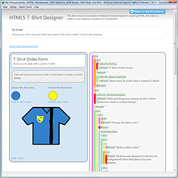 Tシャツのデザインを行うデモ