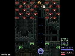 敵編隊を破壊しながら進む高速シューティングゲーム