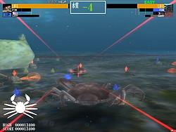 エビやカニなど甲殻類が1対1で戦うTPSタイプのアクションゲーム