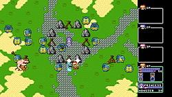 迫り来る敵を倒してお姫様を守る固定画面型のアクションゲーム
