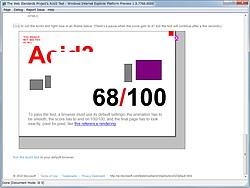"""The Acid3 Test""では68点を記録"