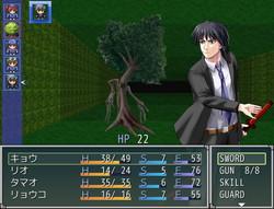 剣による攻撃が得意で防御系のスキルを多くもつ指導教官のキョウ