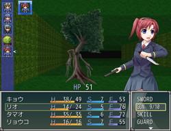 剣と銃の両方を扱え、攻撃力の高いスキルをもつリオ