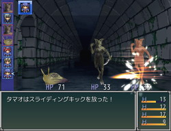 戦闘では敵、味方ともに画面左側にあるアイコン順で行動する
