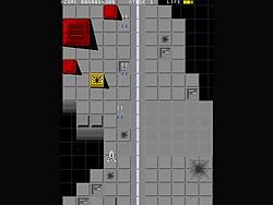 地上物として配置されているイエロー・ターゲット。破壊するとボーナス得点がもらえる