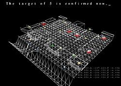 ステージ開始前のブリーフィングではターゲットの位置など重要な情報が表示される