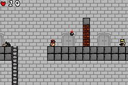 レンガの壁を壊すのには爆弾が必要。1回しか使えないので慎重に