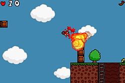 """爆弾の爆風を利用すれば、高く飛び上がっての""""滑空""""も可能となる"""