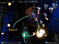 誘導レーザーはザコ敵を一掃したいときに活躍する